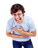 Tipo con la risata calorosa Fotografia Stock Libera da Diritti