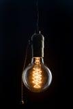 Tipo d'annata lampadina di Edison immagini stock
