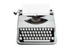 Tipo d'annata macchina da scrivere di f su fondo bianco isloated Fotografia Stock Libera da Diritti