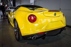 Tipo 960 da aranha de Alfa Romeo 4C do carro de esportes, 2015 Foto de Stock Royalty Free