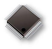 Tipo da companhia de computador da microplaqueta Foto de Stock Royalty Free