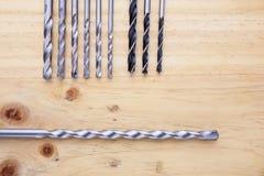 Tipo da diferença dos escareadores em uma tabela de madeira Imagem de Stock Royalty Free