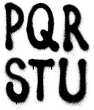 Tipo da fonte da pintura à pistola dos grafittis (parte 3) alfabeto Foto de Stock