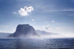 Tipo da manhã na península Le Morne em Mauri Fotos de Stock Royalty Free