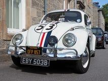 Tipo da VW - 1 Besouro, 1964, no branco, réplica de Herbie foto de stock