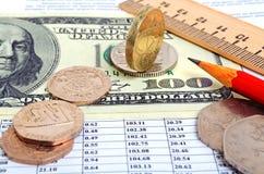 Tipo de cambio de la libra Imagen de archivo libre de regalías