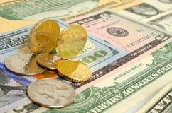 Tipo de cambio de la rublo Imágenes de archivo libres de regalías