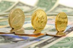 Tipo de cambio de la rublo Imagen de archivo