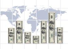 Tipo de cambio del mundo (concepto del dinero) Imágenes de archivo libres de regalías