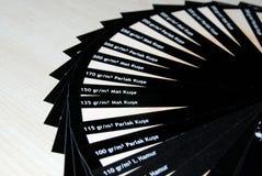 Tipo de cartão da amostra Fotos de Stock