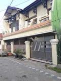 Tipo de casa, exterior de Indonesia de la casa fotografía de archivo libre de regalías
