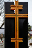Tipo de cruz fúnebre Imagen de archivo libre de regalías
