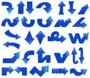 Tipo de diverso sistema azul de la flecha ilustración del vector