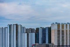 Tipo de edificios Vista de la ciudad de una altura Casa de la construcción imagenes de archivo