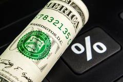 Tipo de interés del dólar americano Fotos de archivo