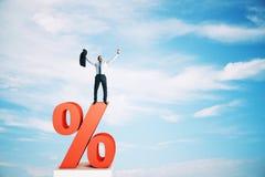 Tipo de interés, inversión y concepto del préstamo ilustración del vector