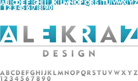 Tipo de la fuente de vector para el diseño del logotipo stock de ilustración