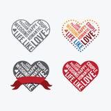 Tipo de la fuente del amor del día de tarjetas del día de San Valentín ilustración del vector