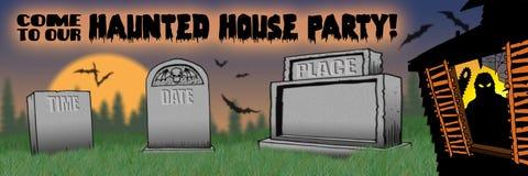 TIPO de la invitación del partido de casa encantada libre illustration
