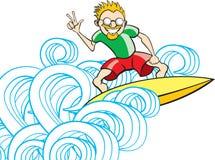 Tipo de la persona que practica surf Imagen de archivo libre de regalías