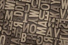 Tipo de madeira blocos da tipografia do vintage de impressão Imagem de Stock
