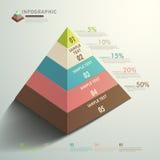 Tipo de pirâmide 3d abstrato infographics do vetor Fotografia de Stock
