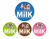 Tipo de rotulagem ou de empacotamento do leite Imagens de Stock Royalty Free