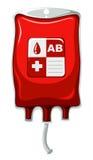 Tipo de sangue AB no saco de plástico Imagens de Stock