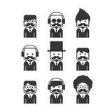 Tipo dei baffi del ritratto dell'avatar Immagine Stock