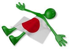 Tipo del fumetto e bandiera morti del Giappone Fotografie Stock Libere da Diritti