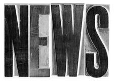 Tipo del grabar en madera de las noticias fotos de archivo libres de regalías