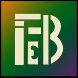 Tipo del logotipo con el ` de FEBRERO del ` de la letra libre illustration