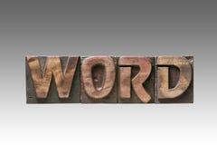 Tipo del vintage de la palabra imagenes de archivo