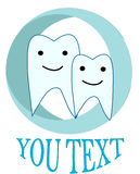 Tipo della famiglia di odontoiatria di logo Fotografia Stock Libera da Diritti