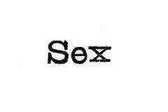 Tipo della macchina da scrivere del sesso fotografia stock