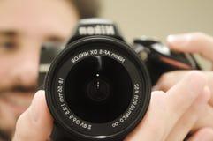 tipo della macchina fotografica Immagine Stock