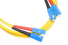 Tipo di cavi a fibre ottiche Sc Immagine Stock
