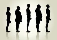 Tipo di corpo maschio Fotografia Stock