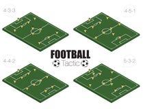 Tipo di formazione di strategia di calcio. Fotografie Stock Libere da Diritti