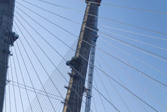 Tipo di grande ponte nel Vladivostok russo Fotografia Stock Libera da Diritti