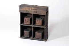 Tipo di legno dello scritto tipografico Immagini Stock