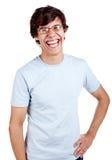 Tipo di risata con la mano sull'anca Fotografie Stock Libere da Diritti