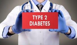 Tipo - diabetes 2 imagem de stock royalty free