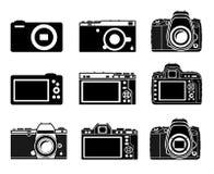 Tipo diferente ícones da câmera Fotos de Stock