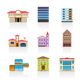 Tipo diferente das casas e dos edifícios 2 ilustração royalty free