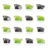 Tipo diferente de ícones do dobrador Imagem de Stock Royalty Free
