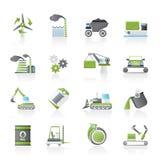 Tipo diferente de ícones do negócio e da indústria Imagem de Stock