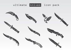 Tipo diferente de facas Foto de Stock