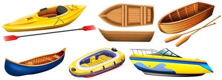 Tipo diferente dos barcos Imagem de Stock