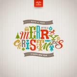 Tipo diseño de la Navidad Imagen de archivo